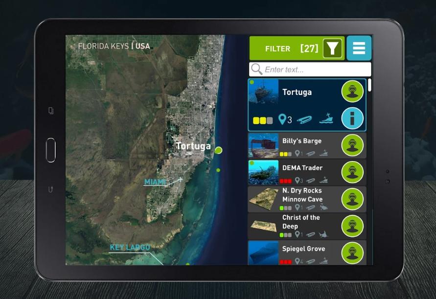 IPad mit Ocean-Maps-App