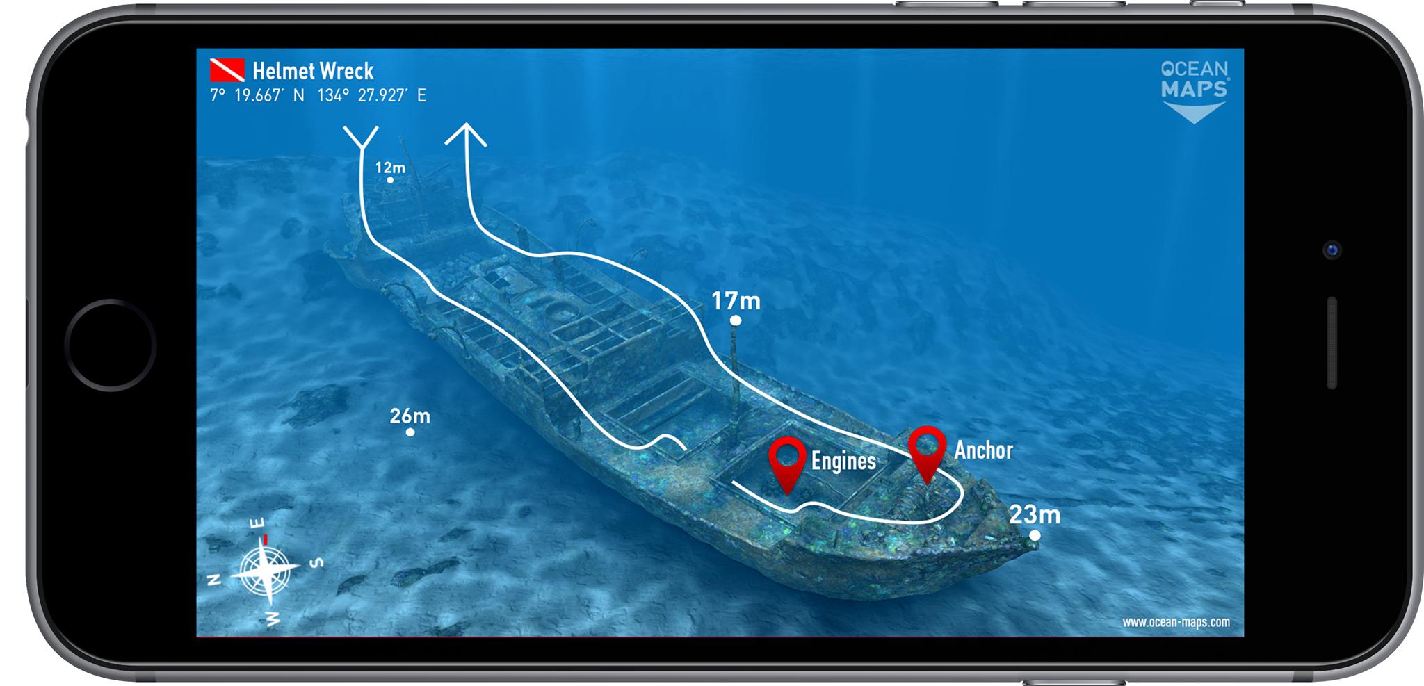 iPhone-App: 3D Visualisierung von Tauchkarten