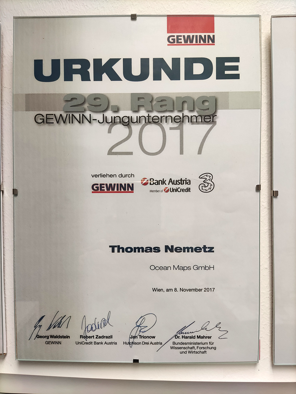 GEWINN-Jungunternehmen Ocean-Maps-GmbH 2017
