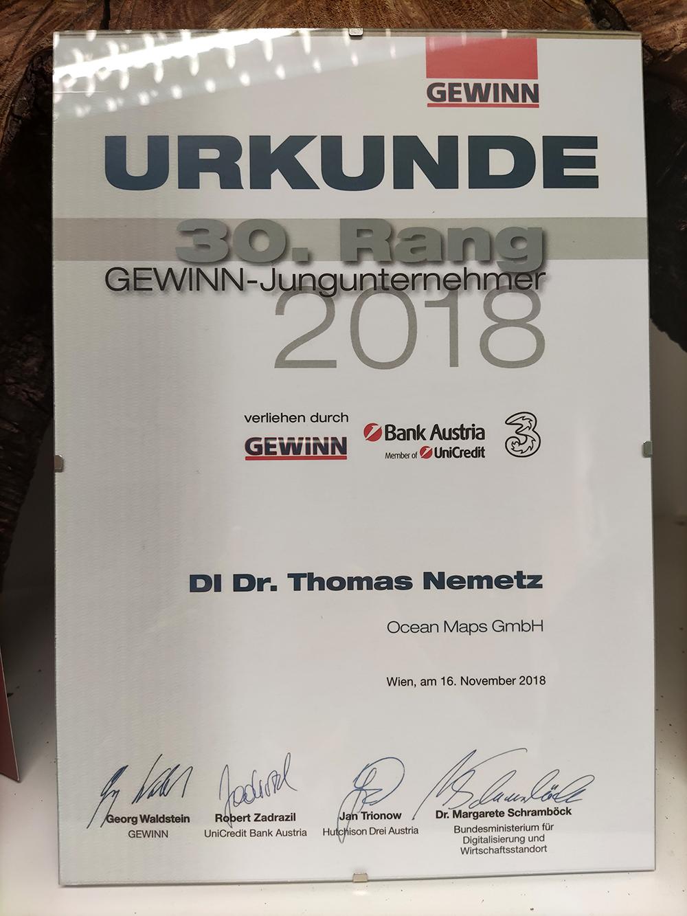 GEWINN-Jungunternehmen Ocean-Maps-GmbH 2018