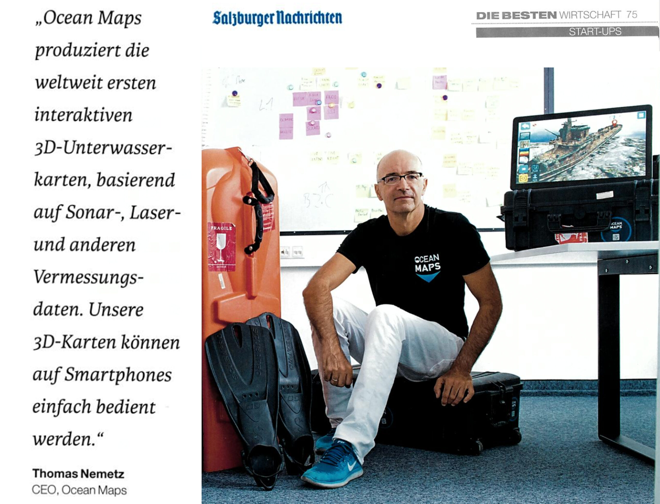 SN Salzburger Nachrichten OCEAN-MAPS-GMBH 3D-Tauchkarten