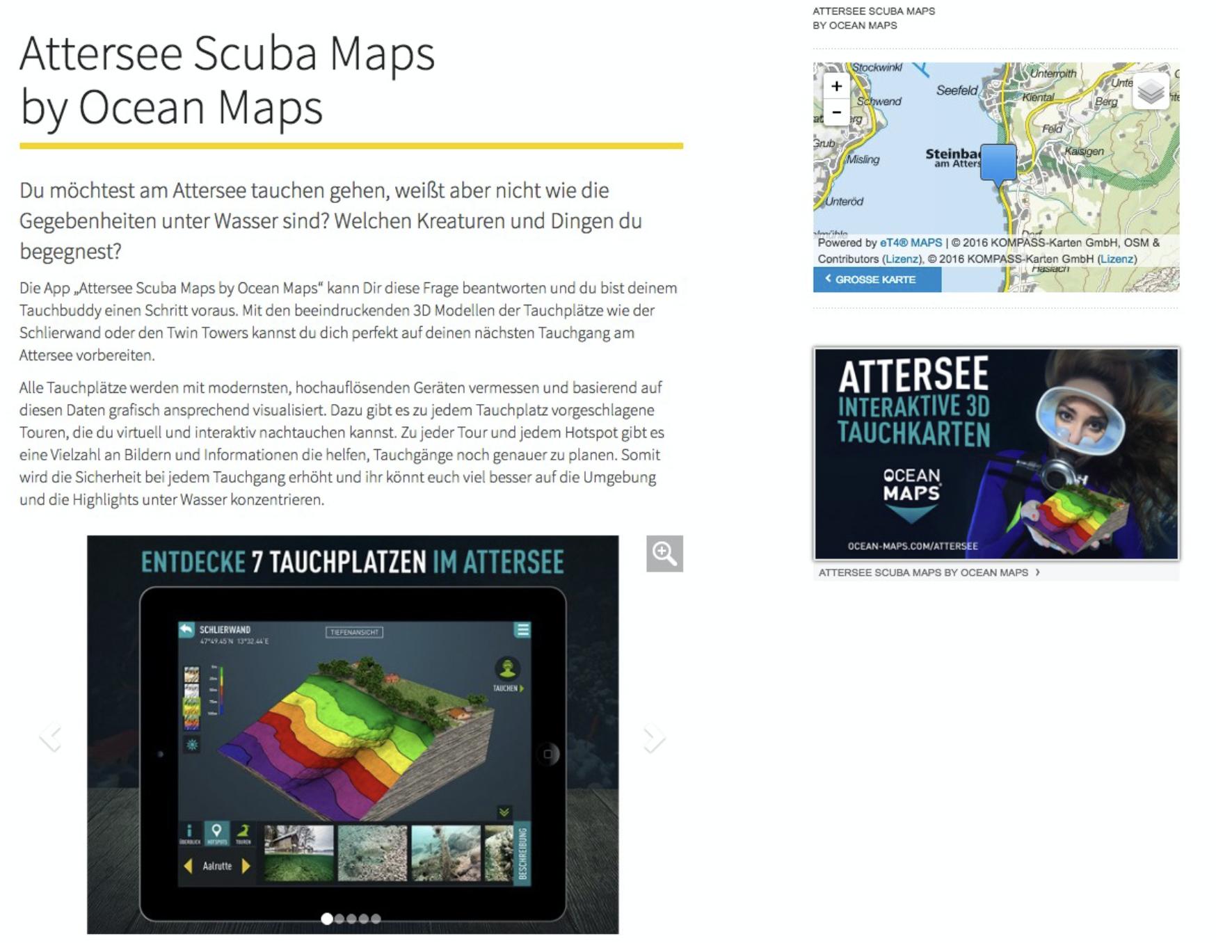 salzkammergut-attersee Ocean-Maps Scuba Maps Tauchkarten