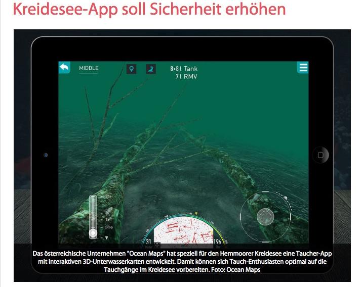 Cuxhavener Nachrichten OCEAN-MAPS Kreidesee-tauch-App