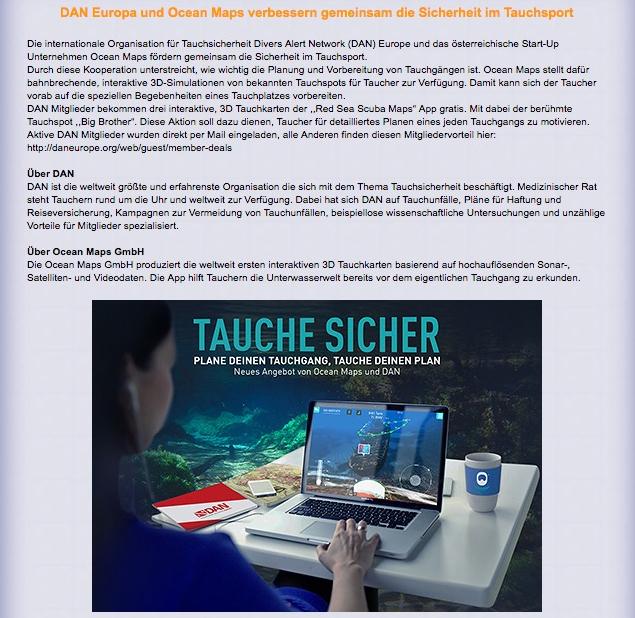Lust-Auf-Meer OCEAN-MAPS Sicherheit Tauchsport