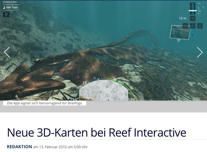 TAUCHEN OCEAN-MAPS Unterwasser 3D-Karten Reef Interactive