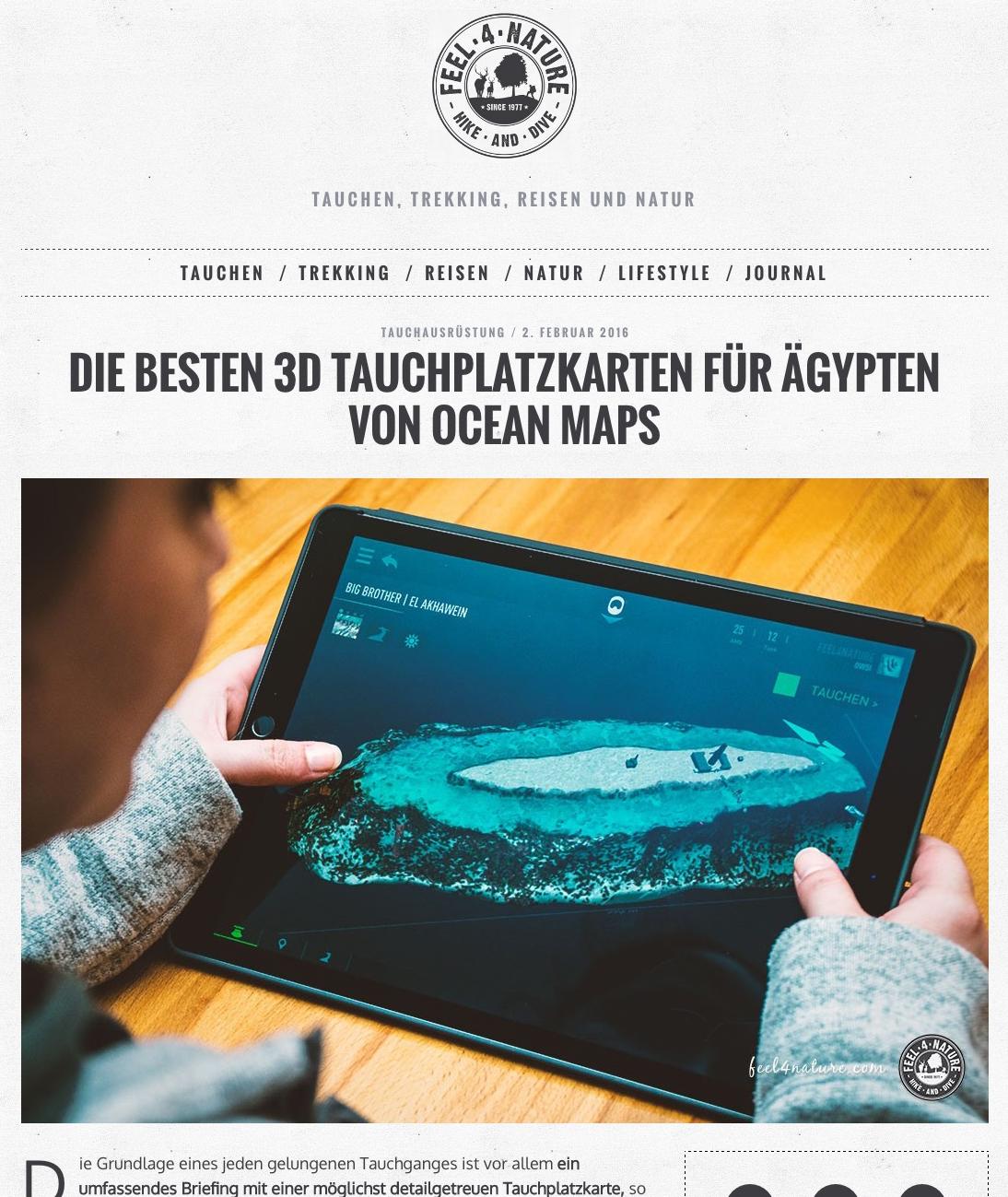 Feel-4-Nature Ocean Maps Tauchplatzkarten