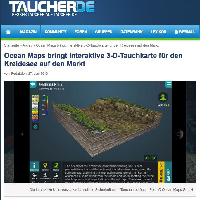 TAUCHER-DE OCEAN-MAPS Kreidesee 3D-Tauchkarten