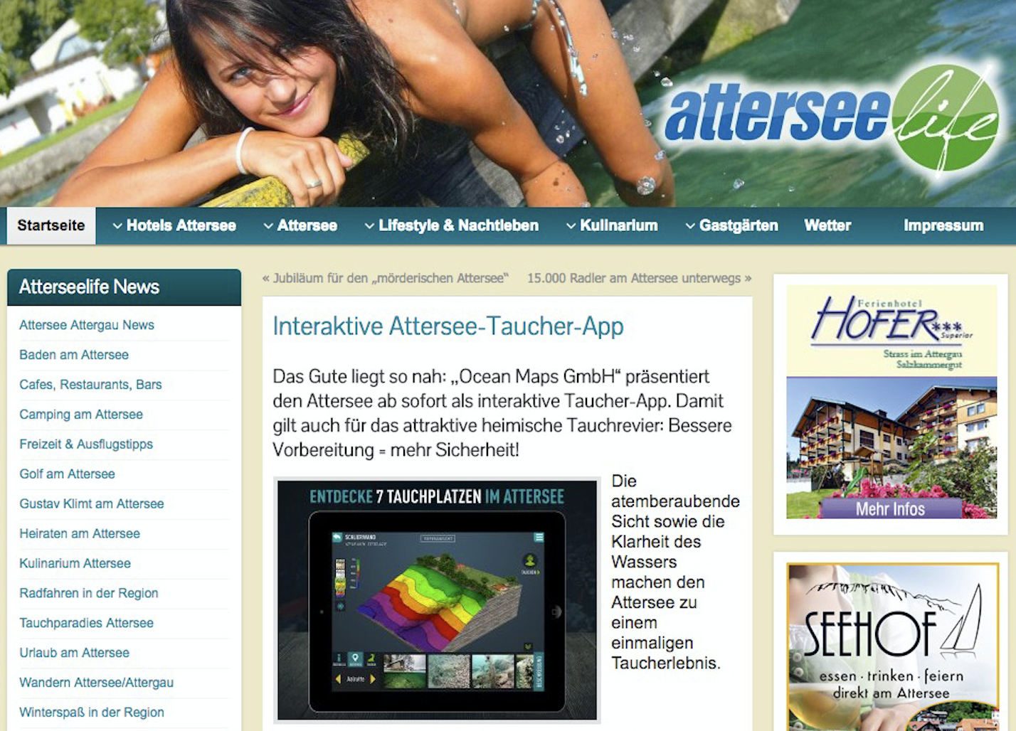 attersee-life Ocean-Maps Attersee-Taucher-App