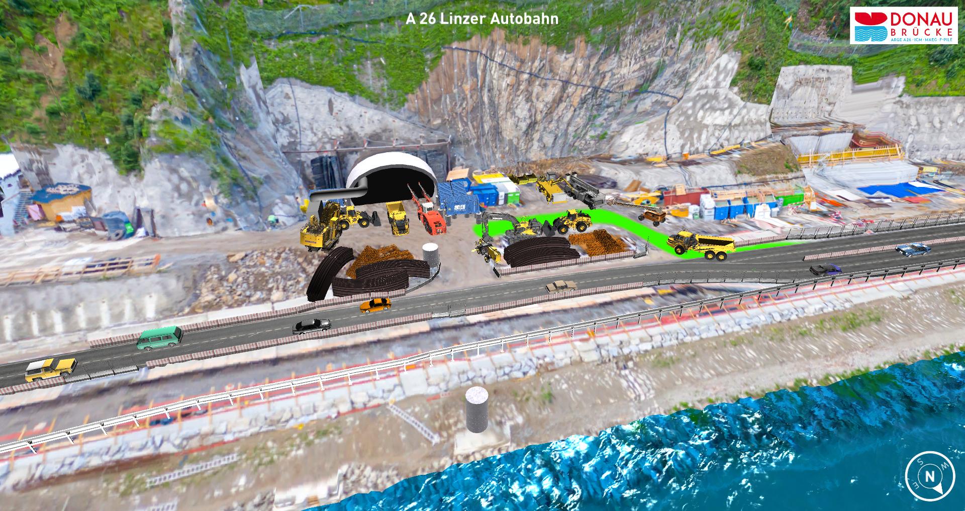 A 26 Linzer Autobahn Tunnelportal